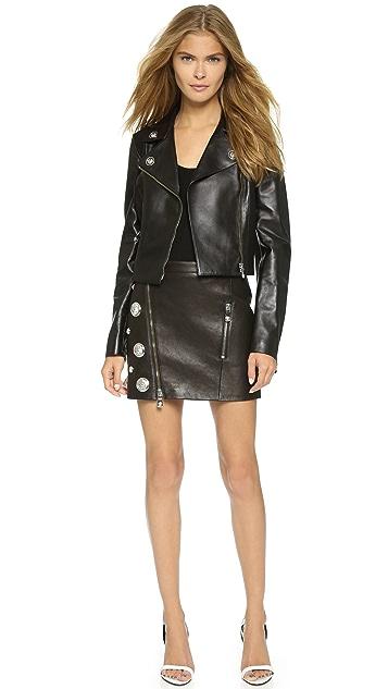 Versus Moto Jacket with Leather Trim