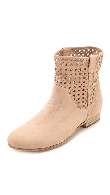 Vic Italy Flat Heel Perforated Booties