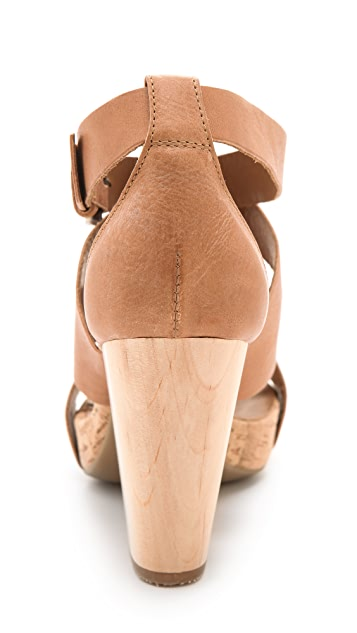 Vic Italy Cork Heel Sandals