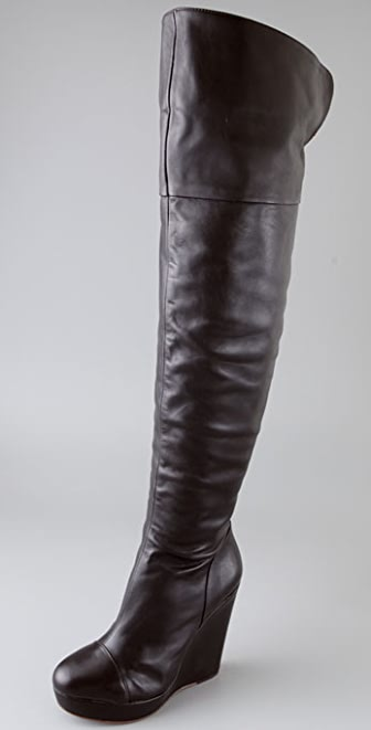 Pour La Victoire Cordelia Over the Knee Wedge Boots