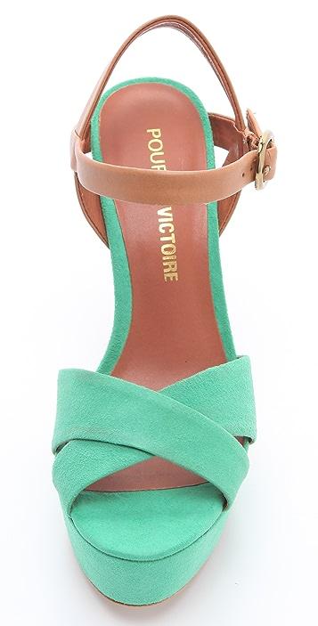 Pour La Victoire Neysa Two Tone Sandals
