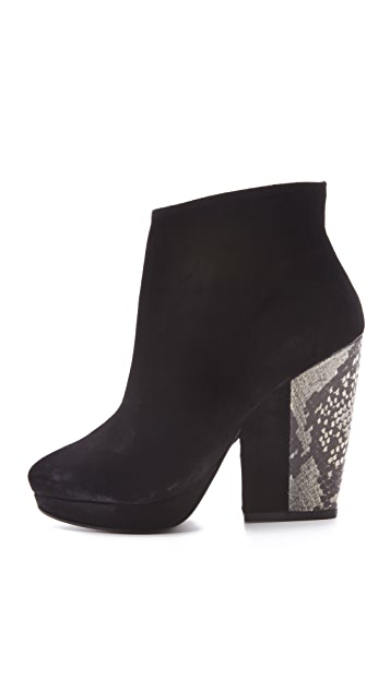 Pour La Victoire Haydn Suede Snake Booties