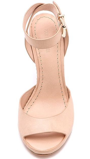 Pour La Victoire Violetta Peep Toe Sandals