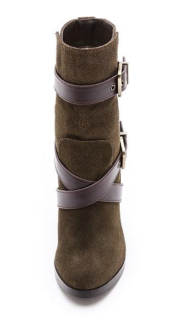 Pour La Victoire Roslin Buckle Wrap Strap Boots