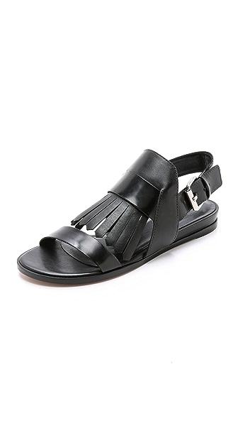 Pour La Victoire Rowan Fringe Flat Sandals