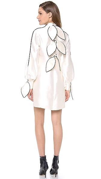 Vika Gazinskaya Long Sleeve Bow Dress