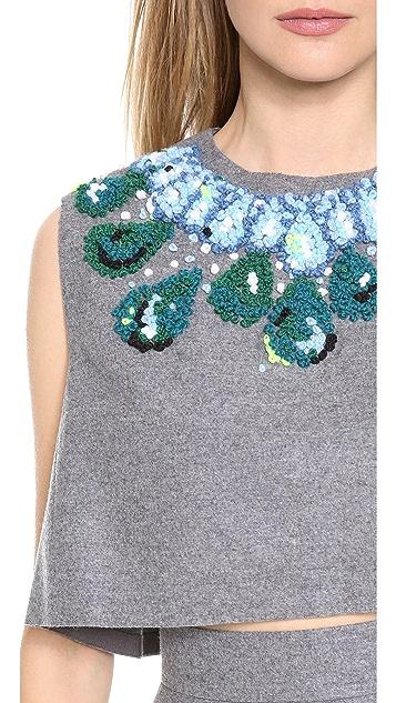 Vika Gazinskaya Cropped Necklace Top