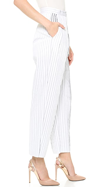 Vika Gazinskaya Striped High Waisted Pants