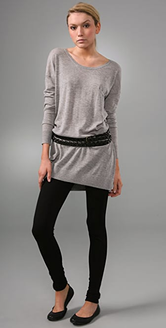 Vince Cashmere T-Shirt Sweater Dress