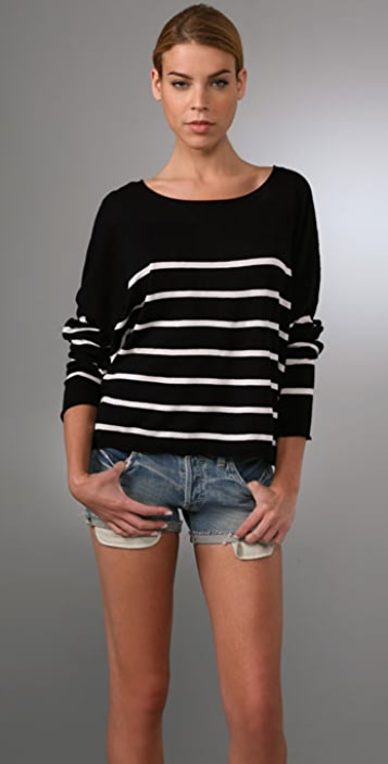 Vince Striped Square Sweater