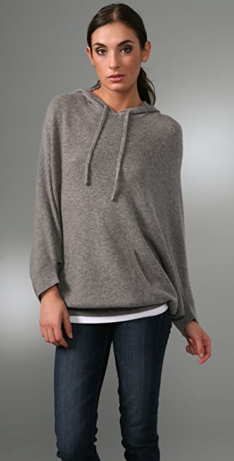 Vince Jumbo Cashmere Hoodie Sweater