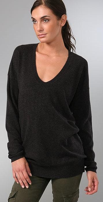 Vince Favorite V Neck Cashmere Sweater
