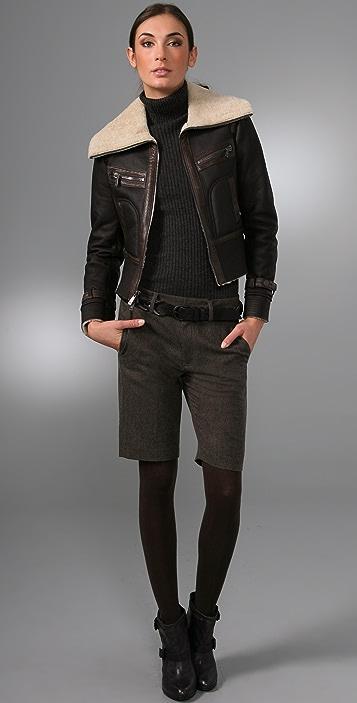 Vince Herringbone Shorts