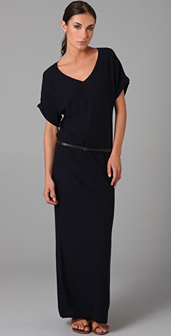 Vince Long Belted Dress