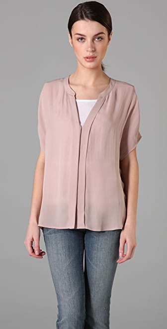 Vince Padded Shoulder Blouse