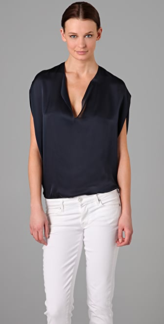 Vince Split Neck Top