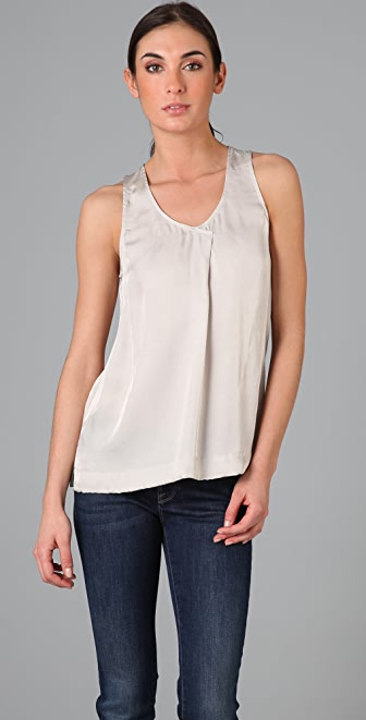 Vince Crossover Pleat Tank