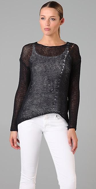 Vince Uneven Hem Sweater