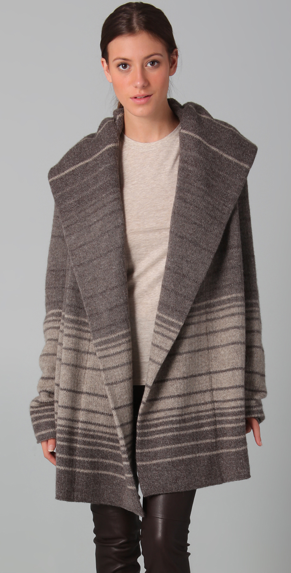 Vince Sophie Striped Sweater Coat | SHOPBOP SAVE UP TO 30% Use ...