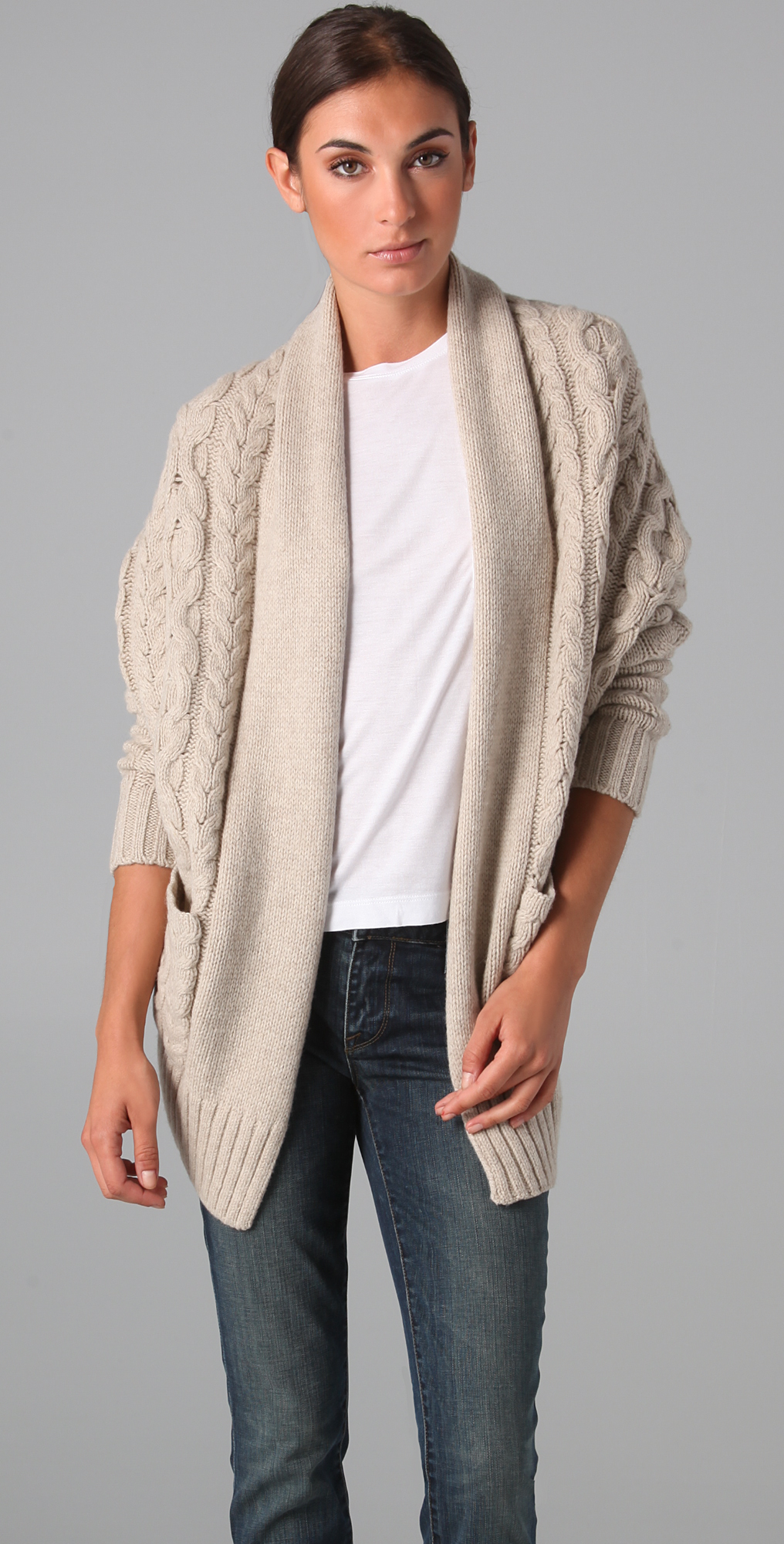 Vince Cocoon Cable Knit Sweater | SHOPBOP
