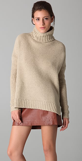 Vince Honeycomb Turtleneck Sweater