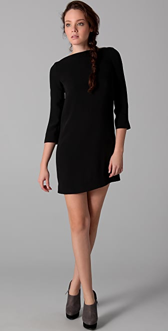 Vince Boat Neck Mini Dress