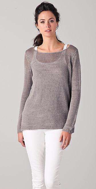 Vince Solid Linen Sweater Shopbop