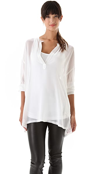 Vince Sheer 1/2 Placket Tunic