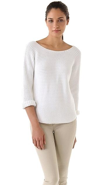 Vince Ribbed V-Back Sweater