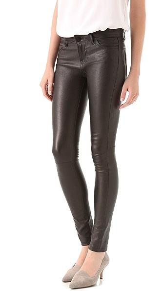 Vince Leather Motocross Skinny Pants