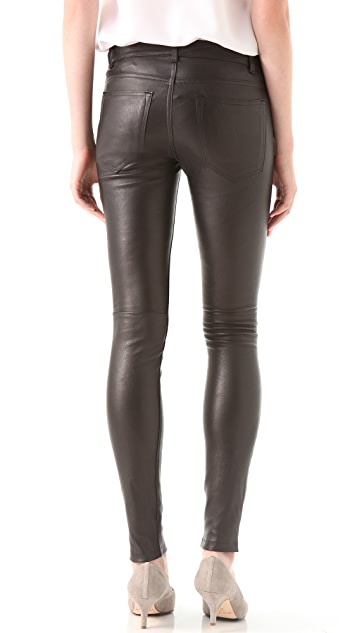 Vince Leather Motocross Skinny Pants
