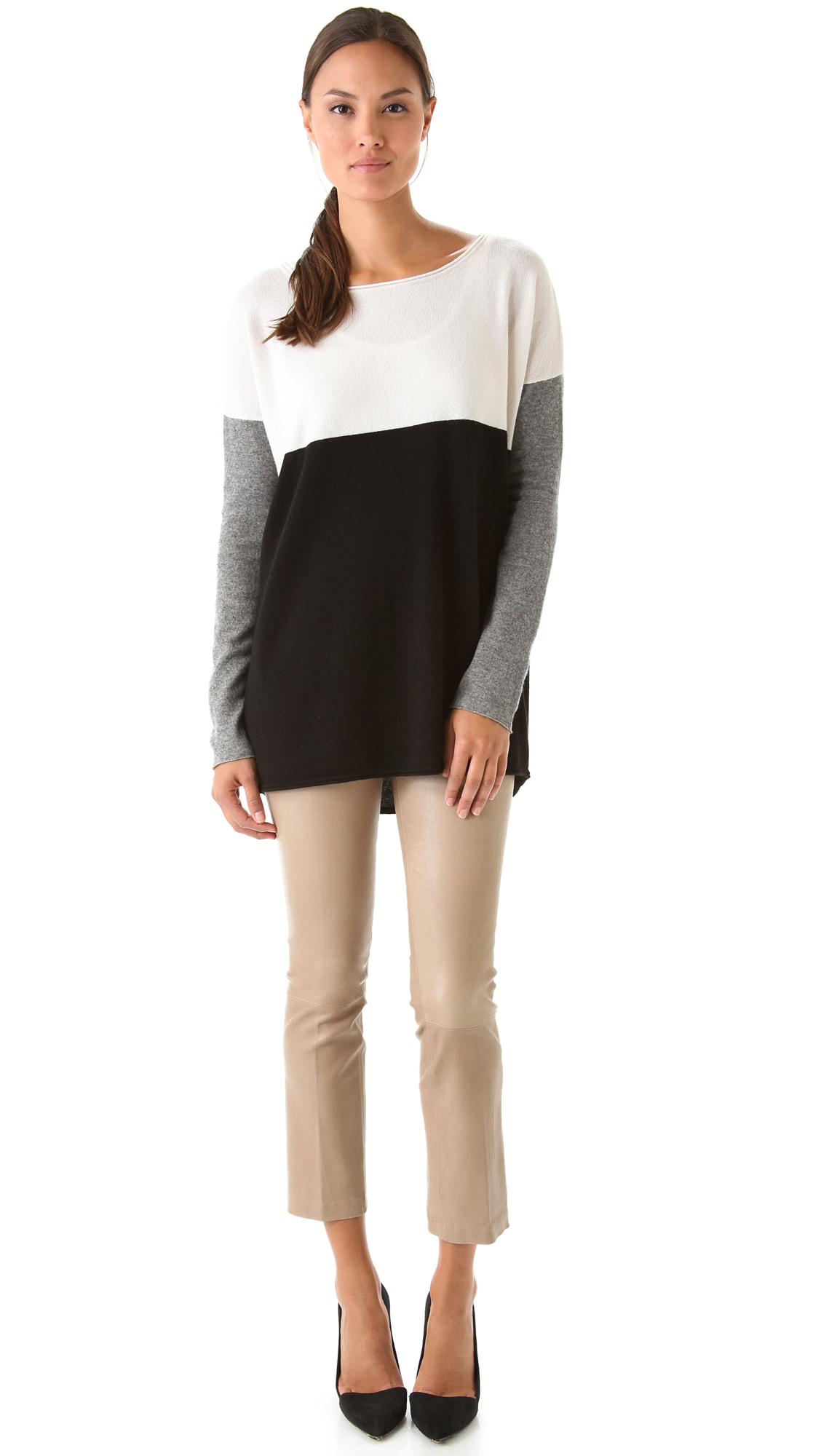 Vince Colorblock Sweater Shopbop Hugo Women Kw Super