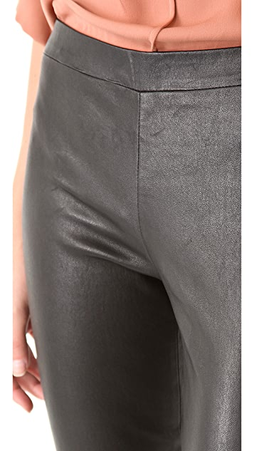 Vince Cropped Stretch Leather Leggings