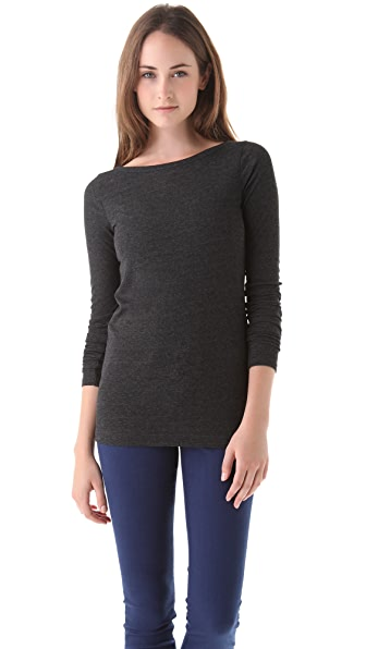Vince Long Sleeve Rib Tee