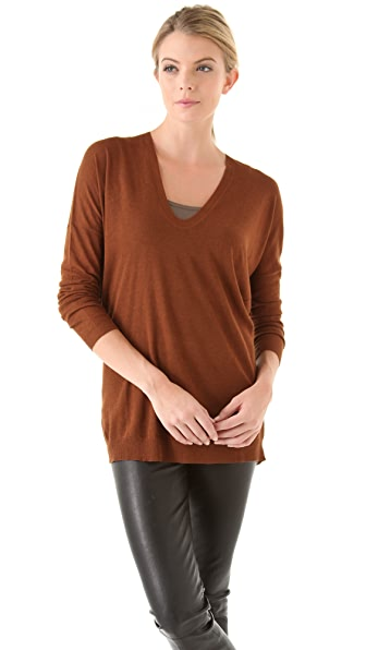 Vince Fine Gauge V Neck Sweater
