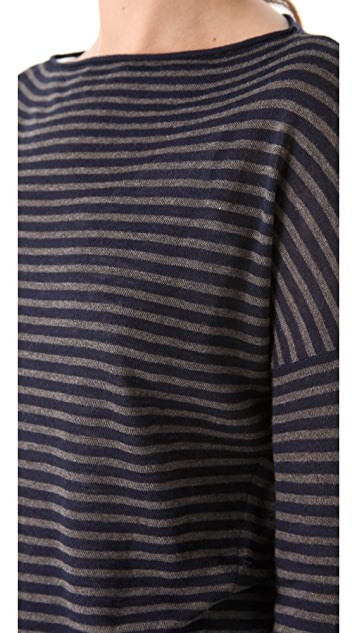 Vince Stripe Boat Neck Sweater