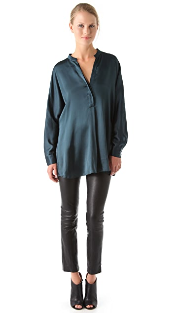 Vince Stand Up Collar Blouse