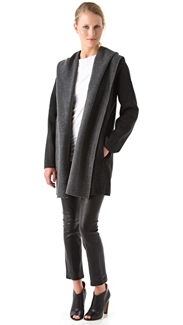 Vince Drape Hooded Coat