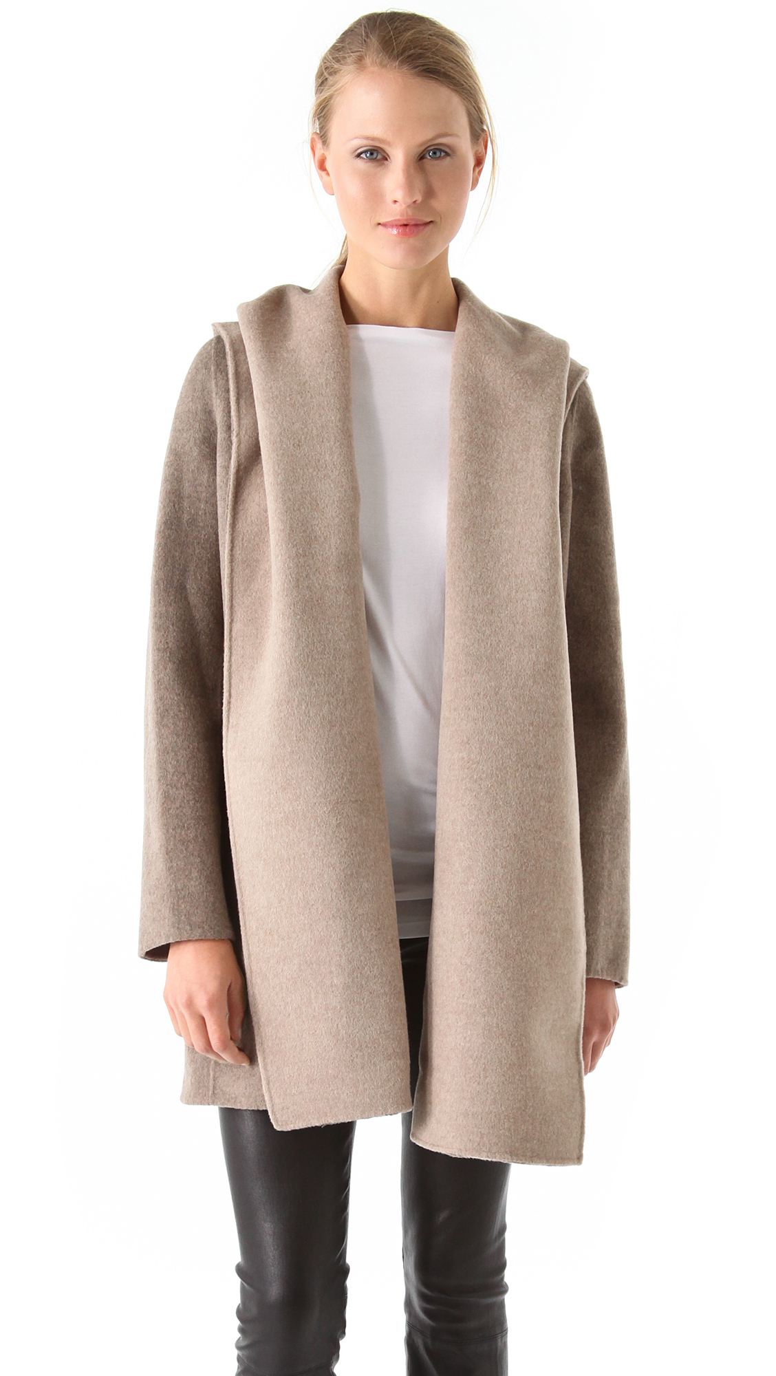 outerwear hooded vince coat pin pinterest s drape bloomingdale drapes