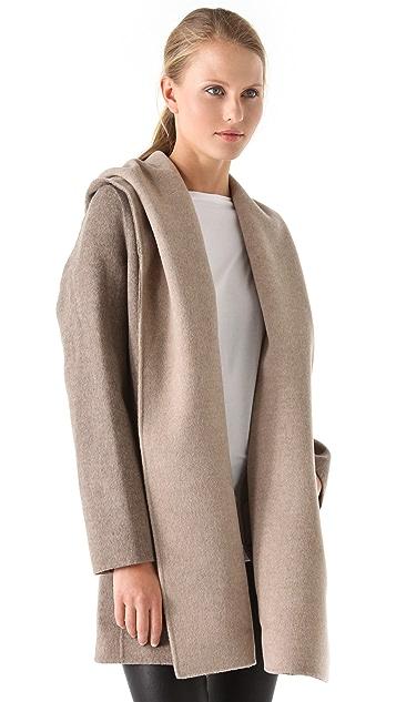 Vince Drape Hooded Coat