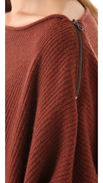 Vince Ribbed Poncho