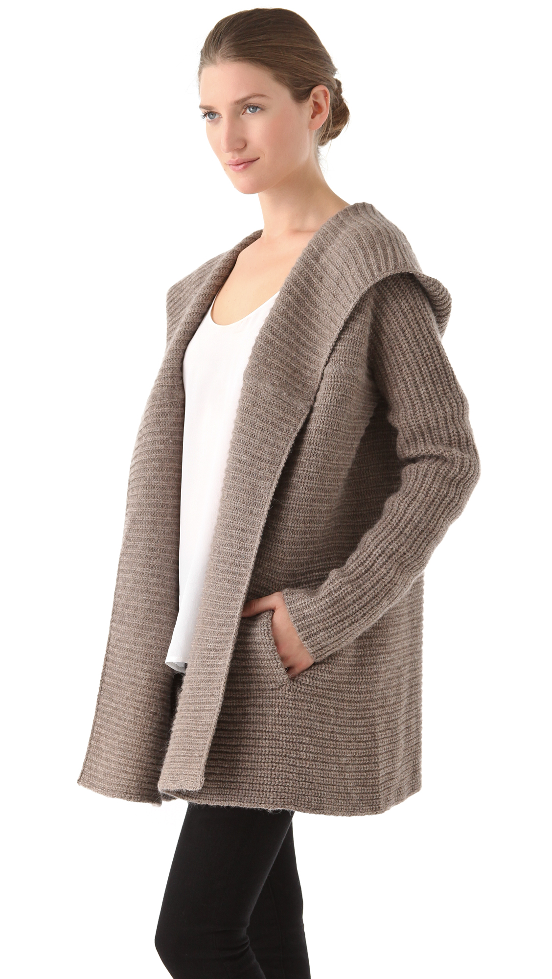 Vince Hooded Cardigan | SHOPBOP