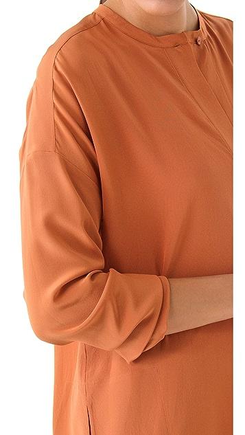 Vince Oversized Silk Shirt