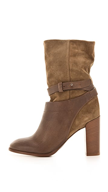Vince Gwen Slouchy Ankle Booties