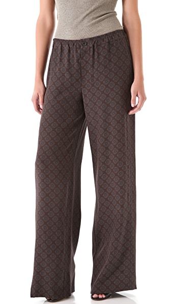 Vince Foulard Print Pants