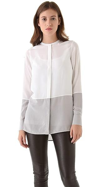 Vince Colorblock Silk Shirt