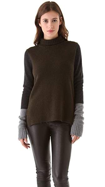 Vince Tricolor Turtleneck