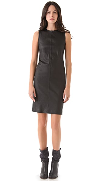 Vince Stretch Leather Dress
