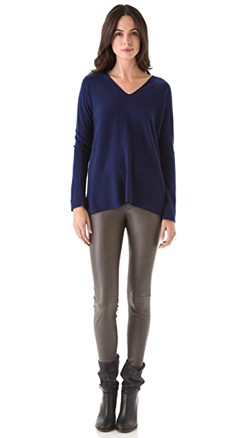 Vince Double V Neck Cashmere Sweater