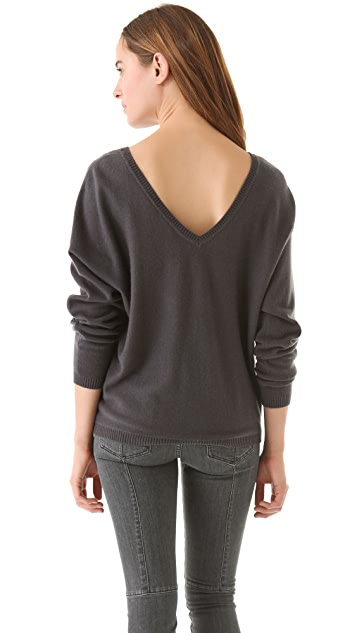 Vince V Back Cashmere Sweater